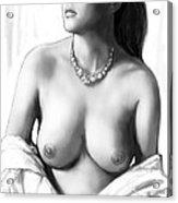 Nude Girl Drawing Art Sketch - 12 Acrylic Print