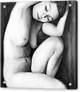 Nude Girl Drawing Art Sketch - 9 Acrylic Print