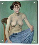 Nude In Blue Fabric, 1912 Acrylic Print