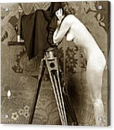 Nude In High Heel Shoes With Studio Camera Circa 1920 Acrylic Print