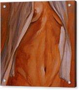 Nude In Shirt IIi Acrylic Print