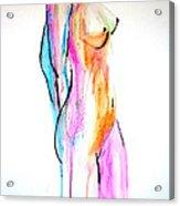 Nude In Watercolor Acrylic Print