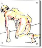 Nude Male Drawings 3w Acrylic Print