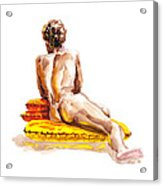 Nude Male Model Study Vi Acrylic Print
