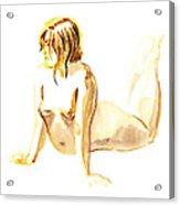 Nude Model Gesture Iv Acrylic Print
