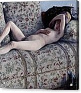 Nude On A Couch Acrylic Print