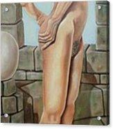 Nude On A Rampart Acrylic Print
