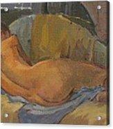 Nude On Chaise Longue Acrylic Print