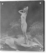 Nude Outdoors, 19th Ct Acrylic Print