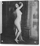 Nude Posing, 19th Ct Acrylic Print