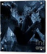 Nude Silhouette In Moonlight Acrylic Print