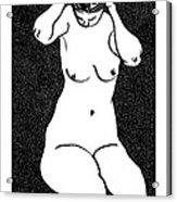 Nude Sketch 10 Acrylic Print