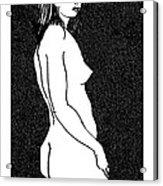 Nude Sketch 8 Acrylic Print