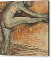 Nude Study For A Dancer At The Bar Acrylic Print