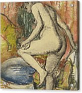 Nude Woman Wiping Herself After The Bath Acrylic Print