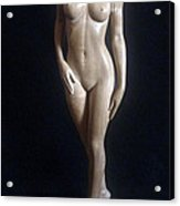 Nude Woman - Wood Sculpture Acrylic Print
