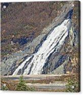 Nugget Falls In Juneau Alaska During Late Fall Acrylic Print