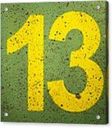 Number 13 Acrylic Print