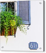 Number 61 And A Quarter - Charleston S C - Travel Photographer David Perry Lawrence Acrylic Print