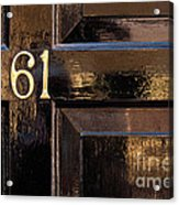 Number 61 Acrylic Print
