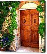 Number Three In San Gimignano Tuscany Acrylic Print