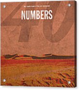 Numbers Books Of The Bible Series Old Testament Minimal Poster Art Number 4 Acrylic Print by Design Turnpike