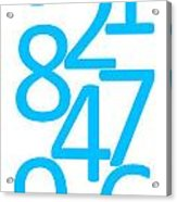 Numbers In Blue Acrylic Print