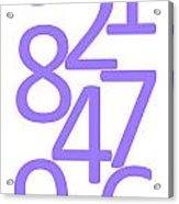 Numbers In Purple Acrylic Print