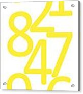 Numbers In Yellow Acrylic Print