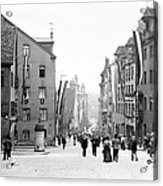 Nuremberg Street Scene 1903 Vintage Photograph Acrylic Print