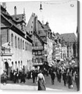 Nuremberg Street Scene Acrylic Print