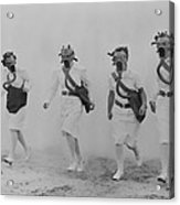 Nurses In A Gas Mask Drill At The U.s Acrylic Print