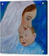 Nurturing Love Of A Mother  Acrylic Print by The Art With A Heart By Charlotte Phillips