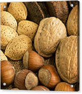 Nuts On Burlap Acrylic Print