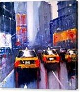 Ny Cabs 1 Acrylic Print