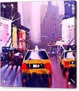 Ny Cabs2 Acrylic Print