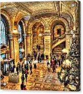 Ny Library Foyer Acrylic Print