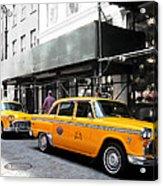 Ny Streets - Yellow Cabs 1 Acrylic Print