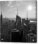 Ny Times Skyline Bw Acrylic Print