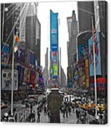 Ny Times Square Acrylic Print
