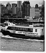 Ny Waterway Ferry Douglas B Gurian From New Jersey To New York City Acrylic Print