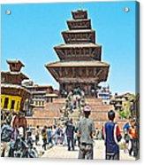 Nyatapola-tallest Pagoda In Nepal-in  Acrylic Print