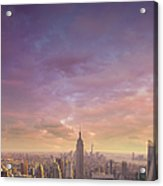 Nyc At Sunset Acrylic Print