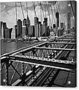 Nyc Brooklyn Bridge View Acrylic Print
