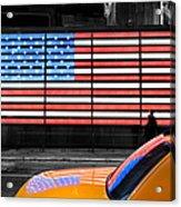 Nyc Cab Yellow Times Square Acrylic Print by John Farnan