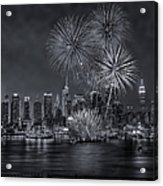 Nyc Celebrate Fleet Week Bw Acrylic Print