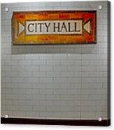 Nyc City Hall Subway Station Acrylic Print