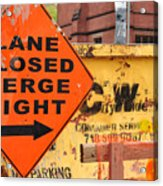 Nyc Construction Graffiti  Acrylic Print