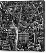 Nyc Downtown - Black And White Acrylic Print