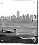 Nyc In The Distance 1990s Acrylic Print by John Rizzuto